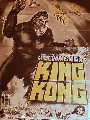 Poster Advertising Movie Revenge Kinkong Film Japanese 1967 Ishiro Honda
