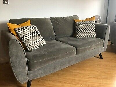 Swell Dfs Aurora 2 Seater Sofa Chair And Foot Stool With Cushions Caraccident5 Cool Chair Designs And Ideas Caraccident5Info
