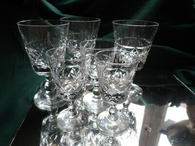 Mixed Lot of Royal Brierley  Cut Glass Wine and Port/Sherry Glasses