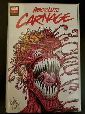 Absolute Carnage #1 NM/M 9.8 💎 Cletus Cassidy Blank Sketch High Grade Key 💎