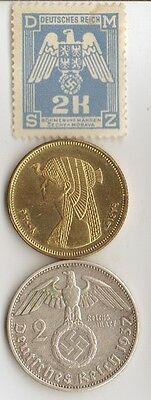 """*egyptian coin of """"CLEO"""" +*us SILVER *WW2 Nickel + Steel, *german coins/STAMPS"""