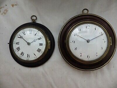 2 X 18th early 19th century Georgian Sedan Chair clocks....FOR A NHS NURSES FUND