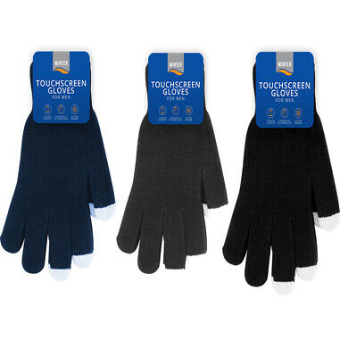 Mens Magic Winter Gloves Touchscreen Thermal Soft Chenille Stretch