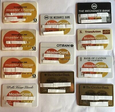 Lot 11 Vintage Credit Cards Master Charge & Master Card Expired 1970s & 1980s NR