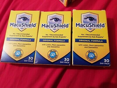 Macushield Original Formula Food Supplement Contains LMZ-30 Day Pack 30×3, 3...