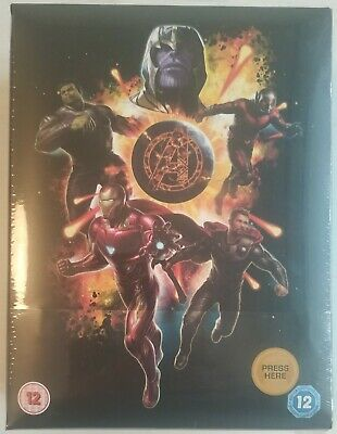 Avengers: Endgame 4K Zavvi Excl. Collector's Edition Steelbook Blu-Ray NEW!!!