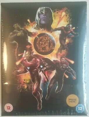 Avengers: Endgame 3D Zavvi Excl. Collector's Edition Steelbook Blu-Ray NEW!!!