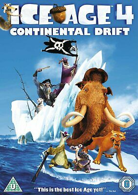 Ice Age 4 Continental Drift R2 NEW & SEALED (DVD, 2012) Family Film Movie