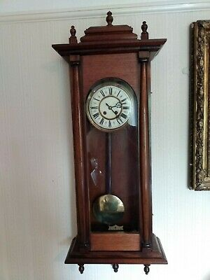 Antique Gustav Becker wall clock, fully serviced and in good working condition.