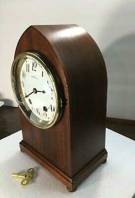 Antique Seth Thomas Bee Hive 8 Day Spring Wound Inlaid Mantle Clock Working 1910