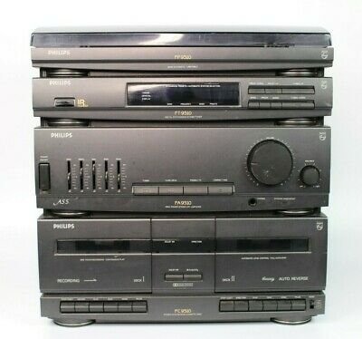 ~~Stereo System Philips As 9510 Amplifier Tuner Turntable Cassette Player