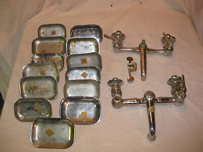 Lot of Antique Vintage Brass Plumbing Fixture Kitchen Bathroom Tub Faucets PARTS