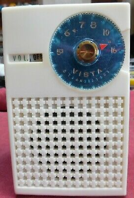 Vintage Rare 1958 Vista KR-6TS33 6 Transistor Radio AM/CD W/Carrying Case VGC