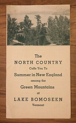 Vintage 1935 Lake Bomoseen Country Club Vermont Travel Brochure Hotels, Golf