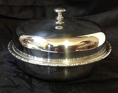 Francis Howard Sheffield EPNS Silver Plated Muffin Dish, Original Inset & Lid