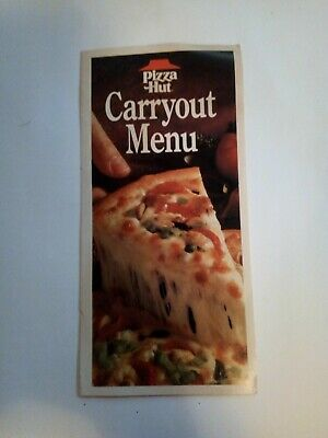 1990 Vintage Pizza Hut Carry Out Menu