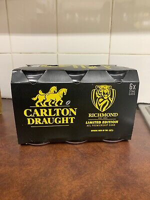 Carlton Draught Richmond Limited Edition 2019 Afl Premiership Cans 6 Pack