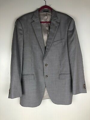 Peter Millar Big & Tall Sz 44T Gray/brown Dual Vent Suit Coat Blazer Jacket Wool