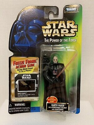 Star Wars Power Of The Force Darth Vader Removable Helmet Kenner 1997