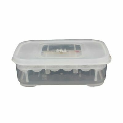 12 Holes Reptile Egg Incubation Tray With Thermometer Incubating Gecko A9X3