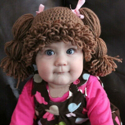 Baby Cabbage Patch Wig Doll Beanie Hat Photo Prop For Girl size Newborn - Adult