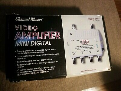 Channel Master CM-3414 4-Port HDTV Signal Distribution Amplifier New Never Used.