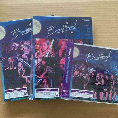 TWICE 5th single Breakthrough first press A B Normal ver. CD SET group photocard