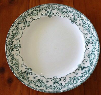 """Upper Henley Pottery Co.England"" Antique Dinner Plate , C1900 ."