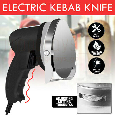 80W Electric Commercial Kebab Knife Meat Carver Multi-function Slicer Shawarma