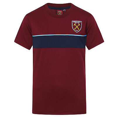 West Ham United FC Official Football Gift Boys Kids Poly Training Kit T-Shirt