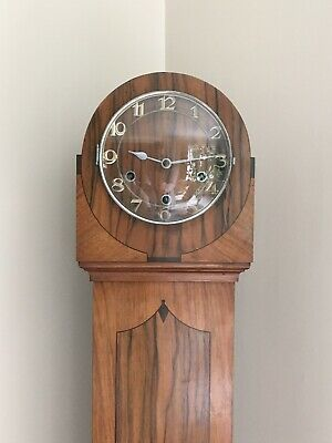 Characterful Vintage Walnut Granddaughter Clock Enfield London