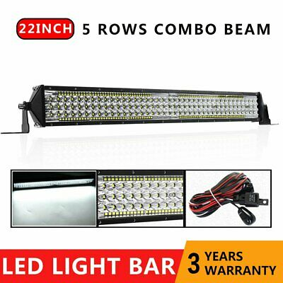 22inch CREE LED Light Bar 5 Rows Combo Beam Offroad Work Driving Lamp 24'' +Wire