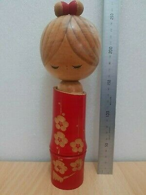 Japan Made Traditional Kokeshi doll Mountain and Lake view (25 cm)
