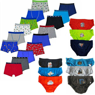Boys Boxer Shorts Boxers Trunks Underwear 3 / 6 Pack Cotton Elasticated Waist