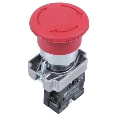 22mm NC Red Mushroom Emergency Stop Push Button Switch 600V 10A C6M6