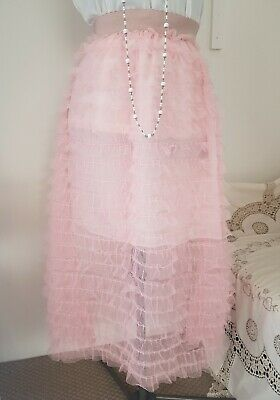 pink tulle skirt size 6 long frothy layers ideal for shop display 6