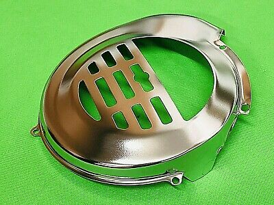 Vespa Pk 50 To 125 Chrome Flywheel Cover With Or Without Electric Start