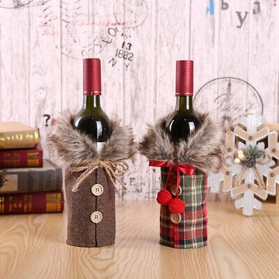 Merry Christmas Santa Wine Bottle Bag Cover Home Xmas Party Table Decorations AU