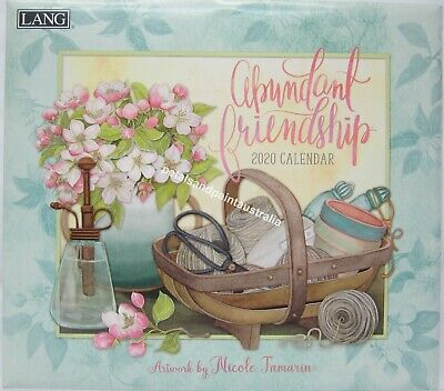 2020 Lang Abundant Friendship Wall Calendar by Nicole Tamarin Fits Timber Frame