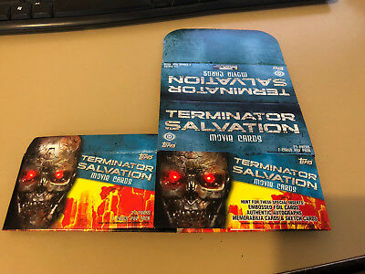 Terminator Salvation - EMPTY MARKED CARD BOX - NO PACKS - SHIPPED FLAT