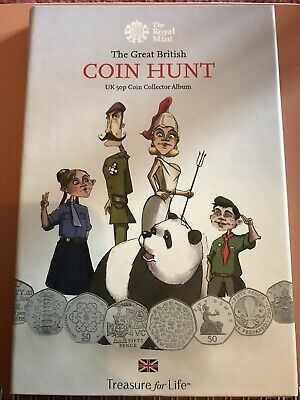 The Great British Coin Hunt UK 50P Coin Collector Album BRAND NEW Royal Mint