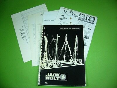 607K03 Catalog & Price List 1969: JACK HOLT small boats and accessories; England