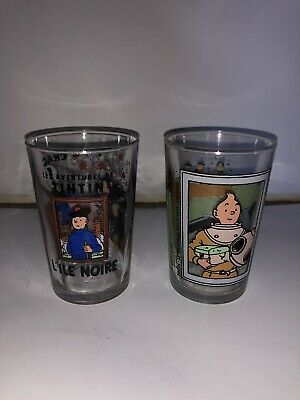 TINTIN Lot 2 verre a moutarde AMORA