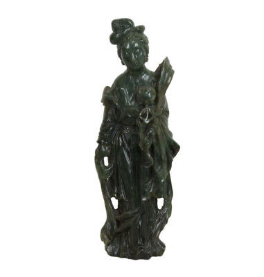 China 20. Jh Large Sculpture - a Chinese Hetian Jade Figure of a Court Beauty