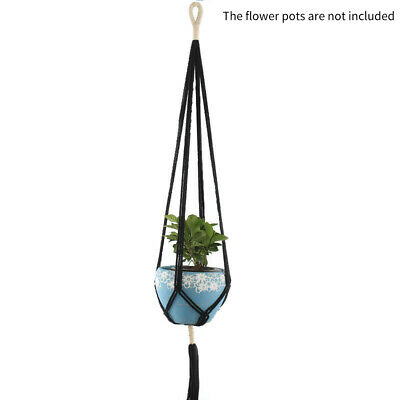 Home Garden Ceramic Hanging Planter Flower Pot Pots Green Plant Vase-Twine 56CM