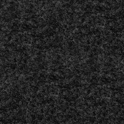 Anthracite Black Contract Velour Carpet Gel Backed, Office, Kitchen, Hardwearing