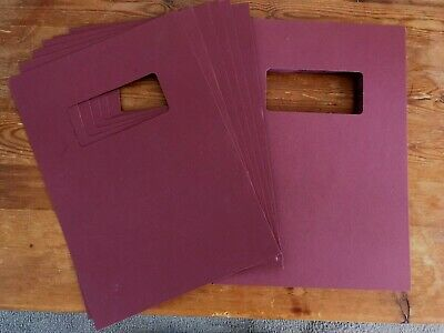 A4 card covers with window, packs of 50 - Burgundy