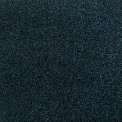 Navy Blue Contract Velour Carpet Gel Backed, Office, Kitchen, Hardwearing