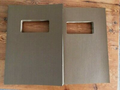 A4 card covers with window, packs of 50 - Natural Brown