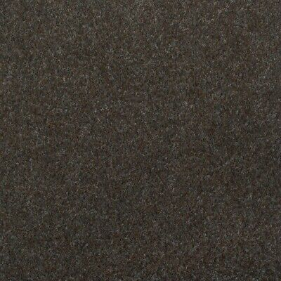 Dark Brown Contract Velour Carpet Gel Backed, Office, Kitchen, Hardwearing
